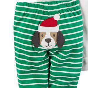 Carters Unisex Baby Santa Puppy Dog Pants Size 9m